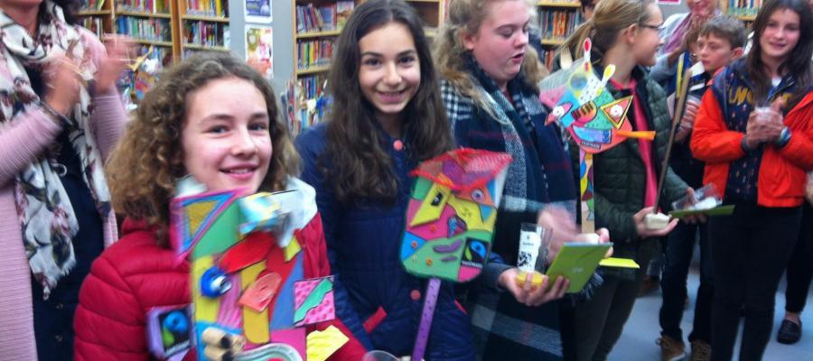 Middenschool Sint-Pieter Oostkamp Kunstwerken voor Fair Trade