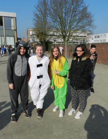 Middenschool Sint-Pieter Oostkamp Nationale pyjamadag Bednet